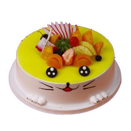 【可爱虎妮】水果蛋糕